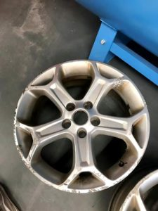rusted diamond cut wheel without rubber
